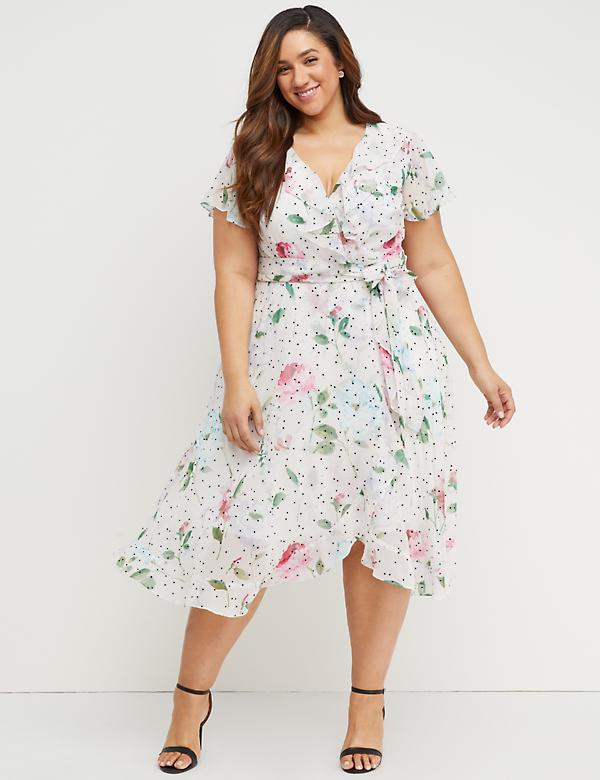 Floral dress for plus size princess